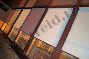 Рулонные шторы на коричневые пластиковые окна