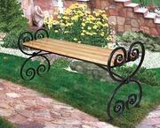 Садово-парковая мебель,  цветники, столы,  мангалы, скамейки.Поликарбонат