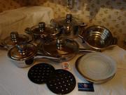 Продаю новый комплект металлической кухонной посуды