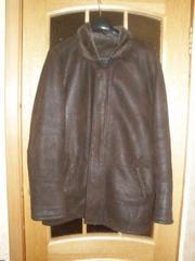 Продаётся мужская дубленка темно-коричневого цвета