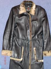 Продаётся кожаное пальто